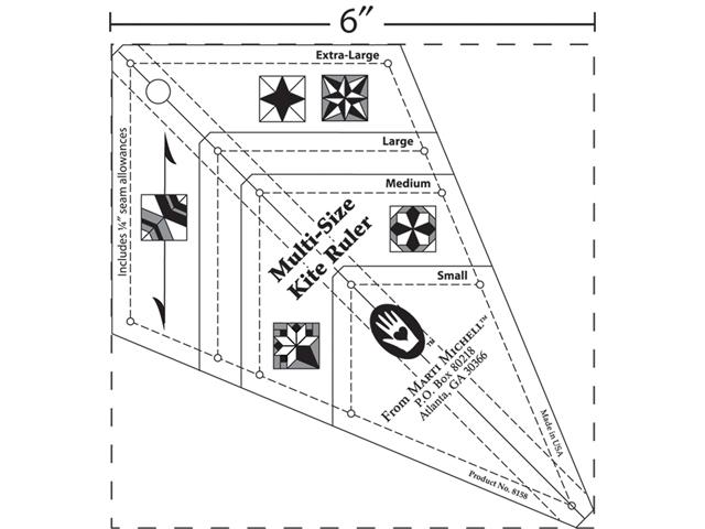 Multi-Size Kite Ruler Marti Michell 8158M