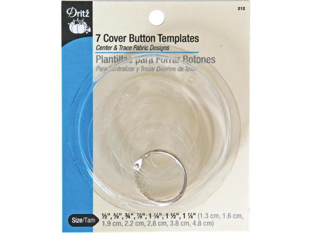 Cover Button Templates-7 Sizes