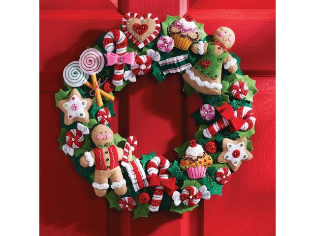 Cookies & Candy Wreath Felt Applique Kit-15