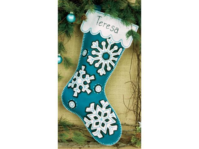 Flurries Stocking Felt Applique Kit-19