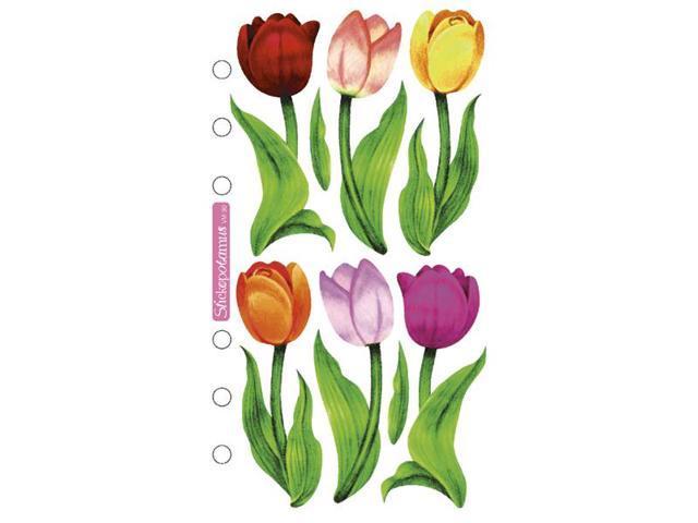 Sticko Vellum Stickers-Tulips