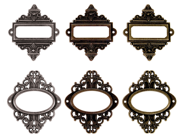 Idea-Ology Ornate Plates With Long Fasteners-6/Pkg