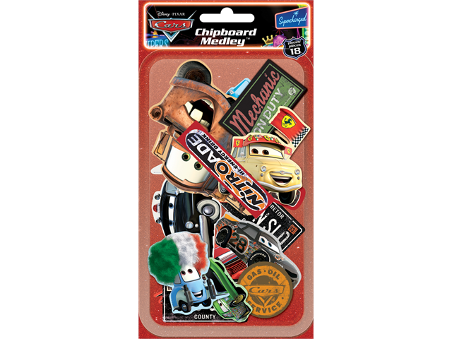 Disney Cars Chipboard Medley 18/Pkg-18 Per Package