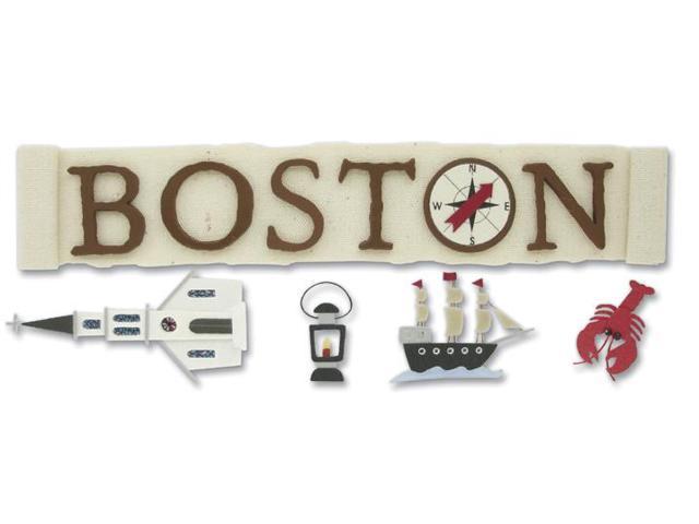 Jolee's Boutique Title Wave Stickers-Boston