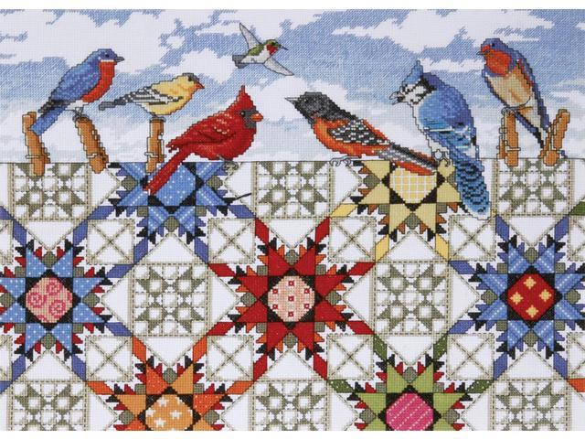 Feathered Stars Counted Cross Stitch Kit-12