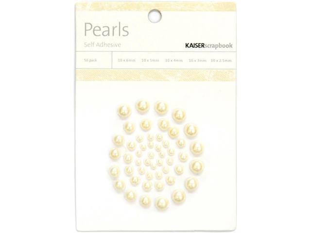 Self-Adhesive Pearls 50/Pkg-Champagne