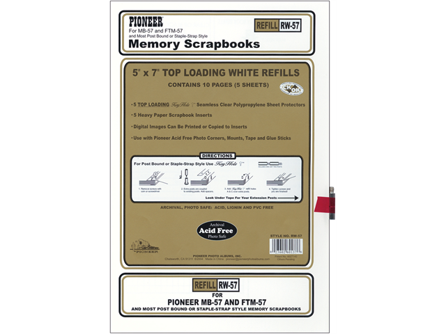 Postbound Top Loading Page Protectors 5/Pkg-5