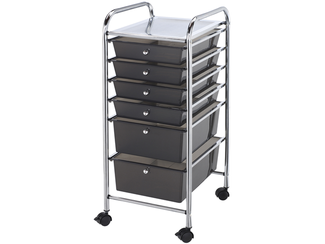 Blue Hills Studio SC6-SM Storage Cart w/6 Drawers 13