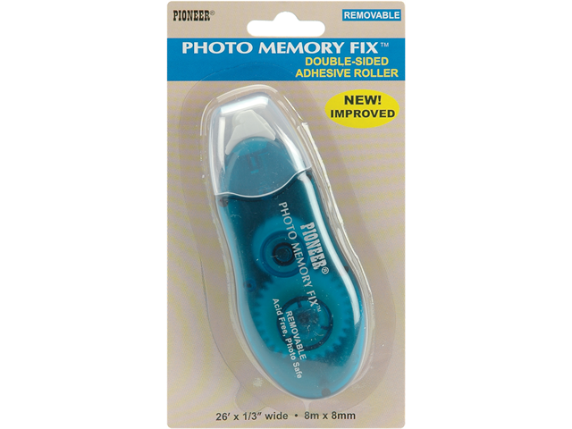 Photo Memory Fix Adhesive Roller Removable-1/4