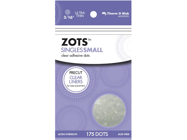 Zots Singles Clear Adhesive Dots-Small 3/16
