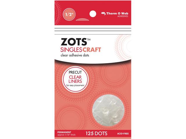 Zots Singles Clear Adhesive Dots-Craft 1/2