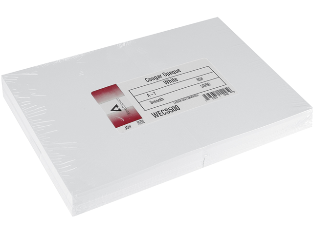 Greeting Cards & Envelopes A7 50 Sets/Pkg-White, 5.25