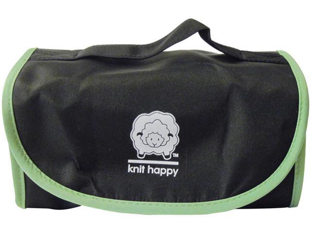 Knit Happy Fold 'n Go Notions Box-Black/Green