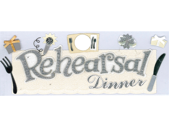 Jolee's Boutique Title Wave Stickers-Rehearsal Dinner