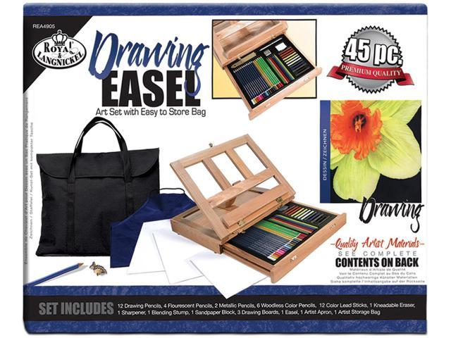 Easel Art Set With Easy To Store Bag-Drawing