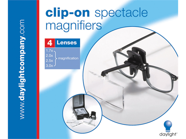 Clip-On Spectacle Magnifier-Black