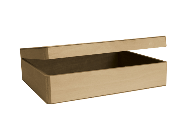 Basswood Cornice Hinged Box-12