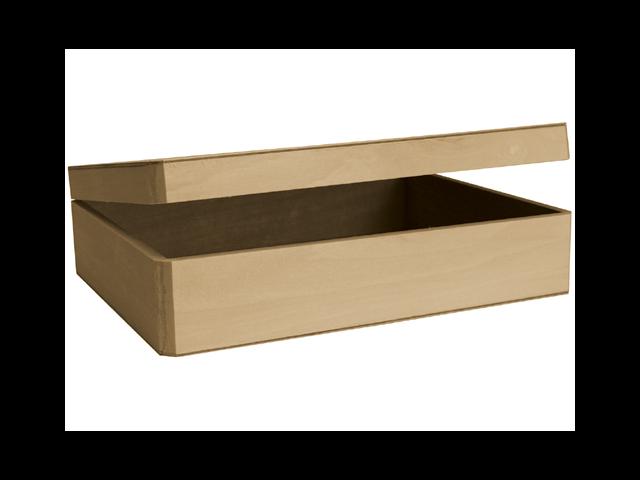Basswood Cornice Hinged Box-12