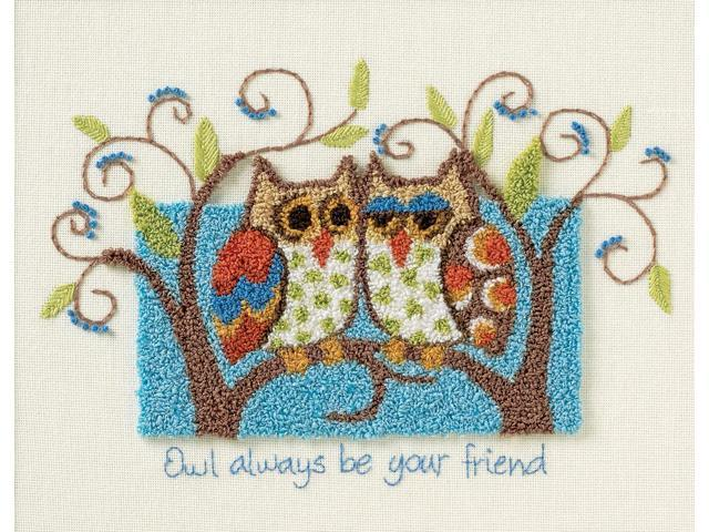 Owl Always Be Your Friend Punch Needle Kit-10