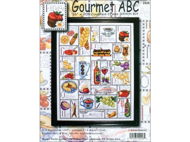 Gourmet ABC Counted Cross Stitch Kit-16
