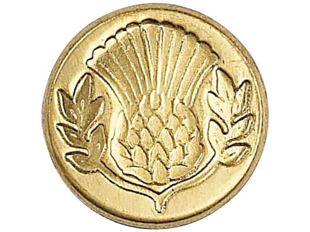 Decorative Seal Coin-Thistle
