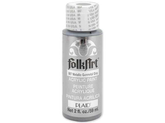 Folk Art Metallic Acrylic Paint 2 Ounces-Gunmetal Gray