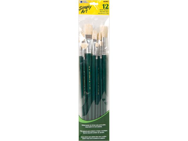 Simply Art Bristle Brush Set-12/Pkg