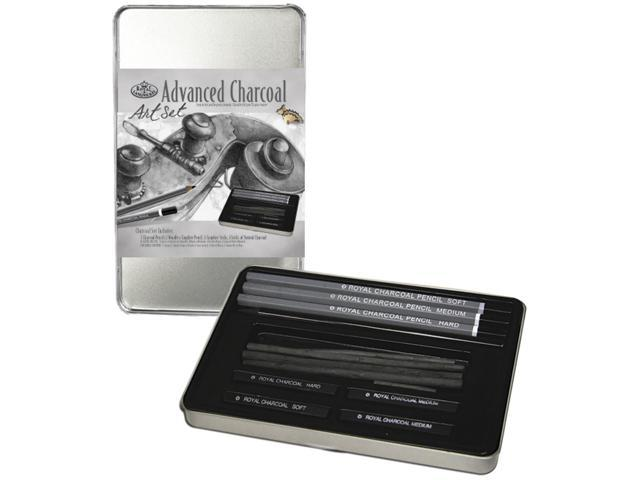 Advanced Charcoal Art Set W/Tin-