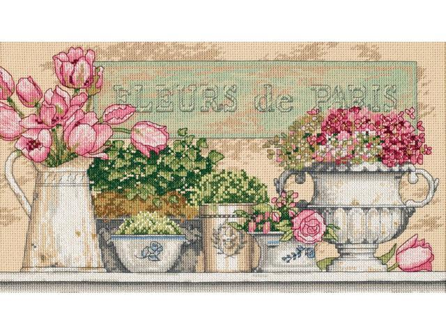 Flowers Of Paris Counted Cross Stitch Kit-14
