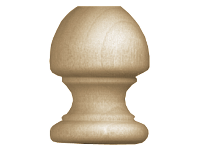 Wood Turning Shapes-Acorn Dowel Cap 1-1/2