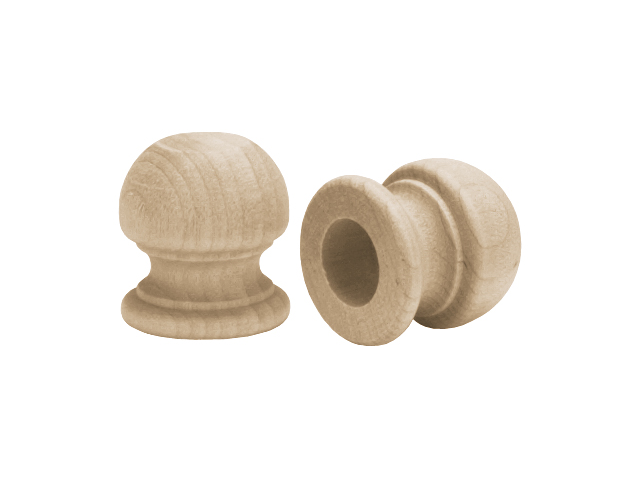 Wood Turning Shapes-Ball Finial Dowel Cap 1