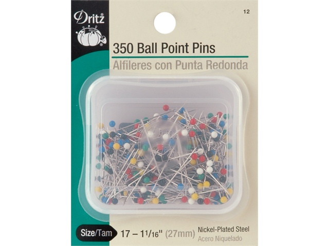 Color Ball Point Pins-Size 17 350/Pkg