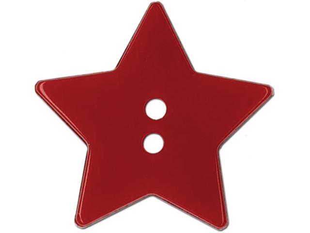 Slimline Buttons Series Funtastics -Red Star 2-Hole 1-1/8