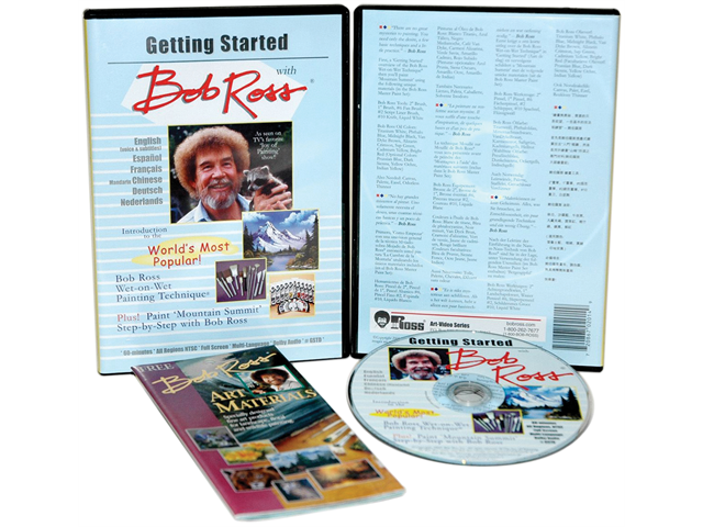 Bob Ross Getting Started 1 Hour DVD-Oil Painting