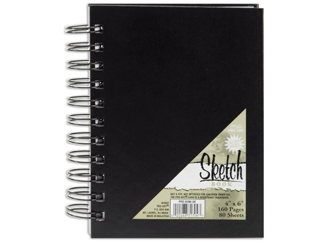 Pro Art Spiral Bound Sketch Book 4