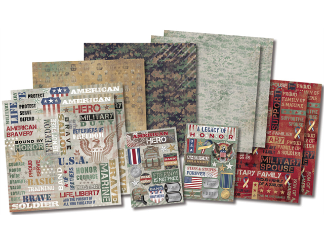 Karen Foster Military Life Page Kit 12