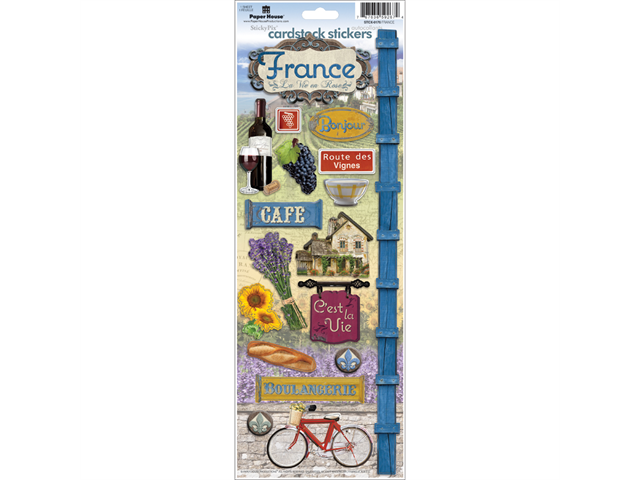 France Cardstock Stickers-