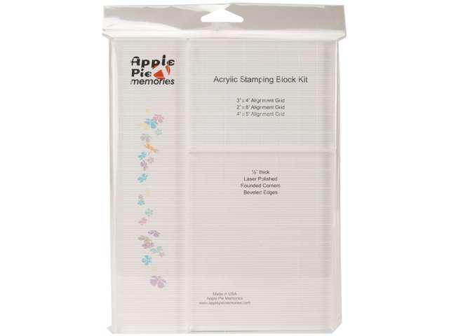 Apple Pie Memories Acrylic Stamp Block Set 3/Pkg-.5