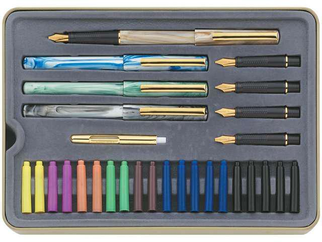 Calligraphy Pens Set Interchangeable Nibs 5/ST Assorted