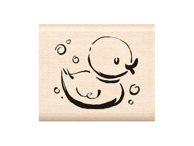 Inkadinkado Wood Mounted Rubber Stamp G-Jazzy Style Rubber Ducky