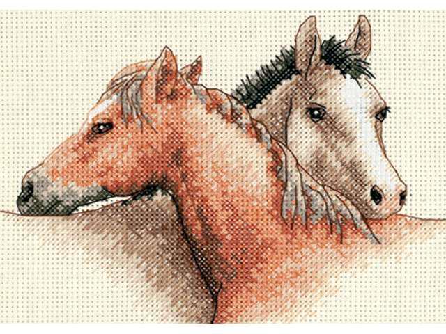 Horse Pals Mini Counted Cross Stitch Kit-7