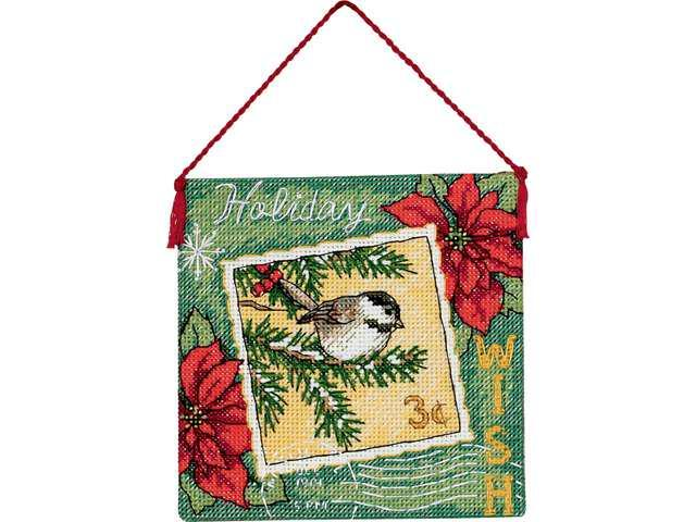 Gold Collection Wish Ornament Counted Cross Stitch Kit-4-1/2