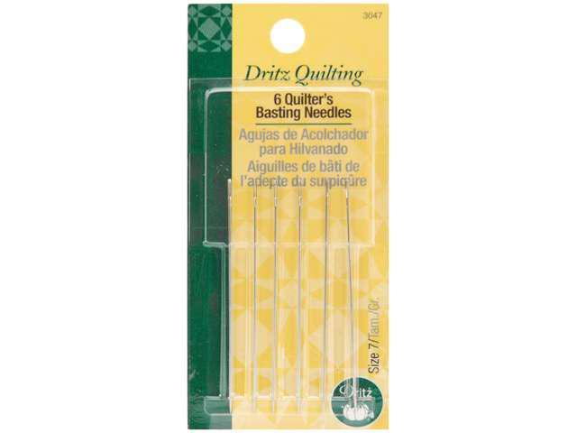 Dritz Quilting Quilter's Basting Hand Needles-Size 7 6/Pkg