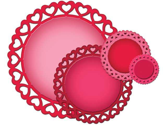 Spellbinders Nestabilities Decorative Elements Dies-Heart Circles
