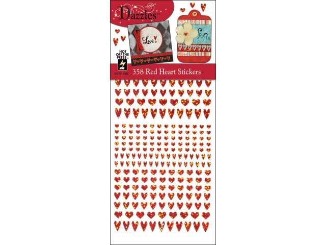 Dazzles Stickers -358 Red Heart