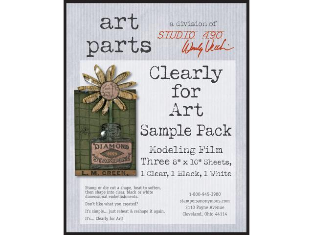 Wendy Vecchi Cleary For Art Sheets Sample Pack 3/Pkg-One Ea: Clear, Blackout, Whiteout