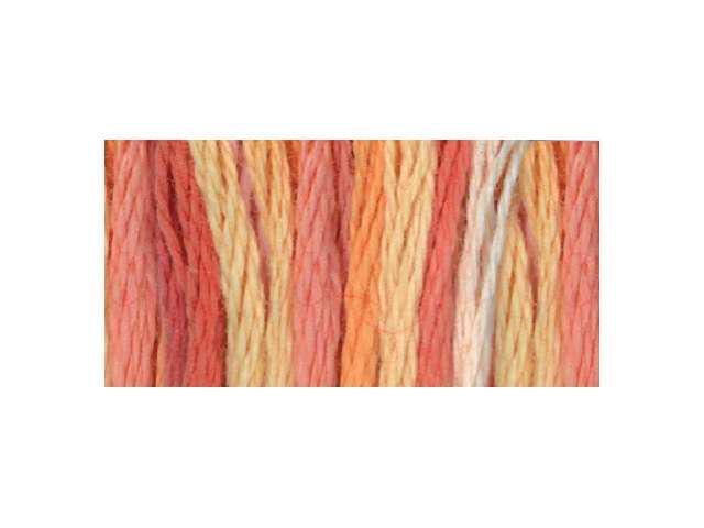 DMC Color Variations Six Strand Embroidery Floss 8.7 Yards -Tropical Sunset