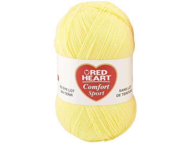 Red Heart Comfort Sport Yarn-Butter