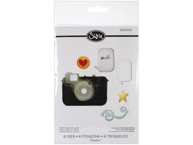 Sizzix Thinlits Die-Retro Camera & Icons