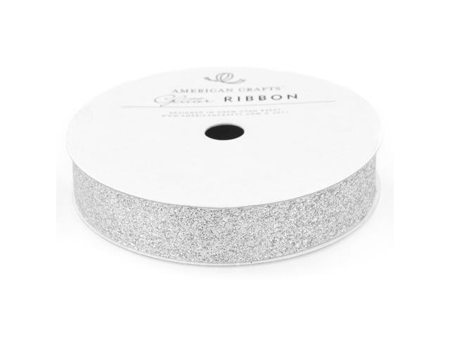 Solid Glitter Ribbon .625